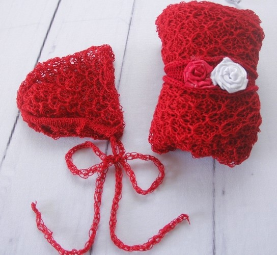 Wrap Textura Touca e Headband Bordô