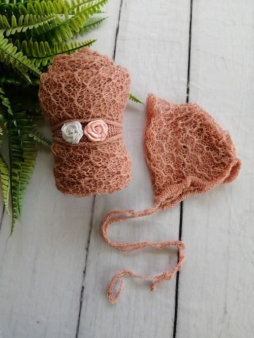 Wrap Textura Touca e Headband Rosa amaralina