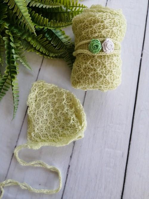 Wrap Textura Touca e Headband Verde aloe