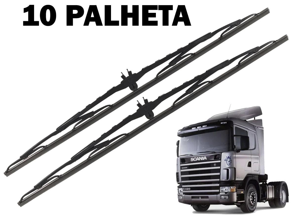 10 PALHETAS LIMPADOR DE PARABRISA SCANIA 114/124