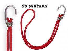 50 Elastico extensor Com Gancho Metal Para Lona De Caminhão