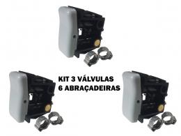 BOTÃO VÁLVULA BANCO AR CAMINHÃO VOLKS/FORD CARGO/MB AXOR 3P