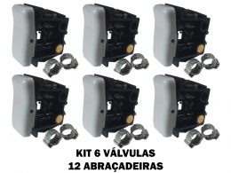 BOTÃO VÁLVULA BANCO AR CAMINHÃO VOLKS FORD CARGO MB AXOR 6P