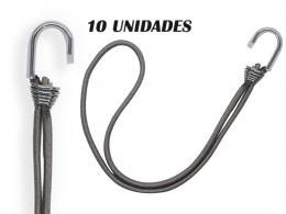 EXTENSOR ELASTICO CAMINHAO CORDA LONA 10 UNIDADES 40CM