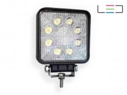 FAROL LED AUXILIAR QUADRADO COM 9 LEDS 27W 12/24V