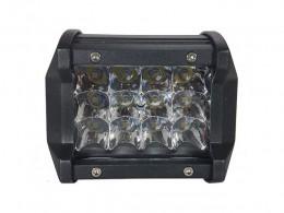 FAROL LED MILHA AUXILIAR RETANGULAR 12 LEDS 12/24V