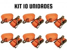 KIT 10 CINTA CATRACA CARGA/CAMINHÃO/MUDANÇA 1,5 TONELADAS 9M
