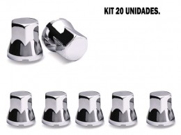 KIT 20 CAPAS DE PORCA CROMADA 33 MM