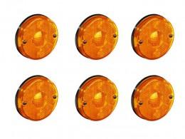 KIT 6 LANTERNA LATERAL LED 12/24V. CARRETA RANDON AMARELO