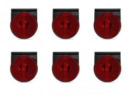 KIT 6 LANTERNA LATERAL LED 24V CARRETA RANDON REBOQUE AMAREL