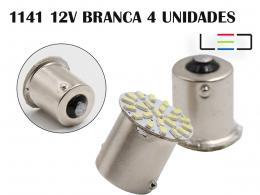 LÂMPADA LED PARA CARRO VEÍCULOS 12V 1141 BRANCO FRIO 4 PEÇAS