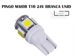 LAMPADA LED PINGO T10 24V BRANCO FRIO UNITARIO