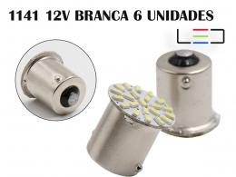 LÂMPADA LED SUPER LED PARA CARRO VEÍCULOS 12V 1141 BRANCO 6U