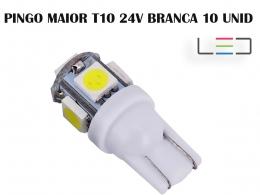 LÂMPADA LED SUPER LED PARA CARRO VEÍCULOS 24V T10 BRANCO 10U