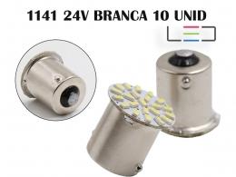 LÂMPADA LED SUPER LED PARA CARROS VEÍCULOS 24V 1141 BRANC 10