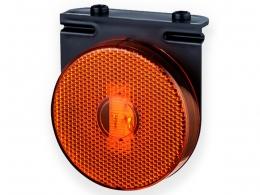 LANTERNA LATERAL COM SUPORTE CARRETA RANDON TREILER LED 24V.