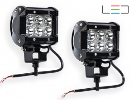 PAR FAROL LED AUXILIAR 6 LEDS RETANGULAR 18W 12/24V