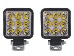 PAR FAROL LED AUXILIAR 9 LEDS QUADRADO MINI 18W 12/24V