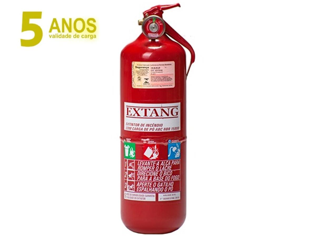 EXTINTOR INCÊNDIO 2KG ABC 5 ANOS ( VAN, CAMINHÃO, BARCO)