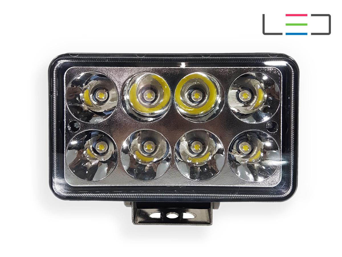 FAROL LED AUXILIAR RETANGULAR 8 LEDS 24W 12/24V