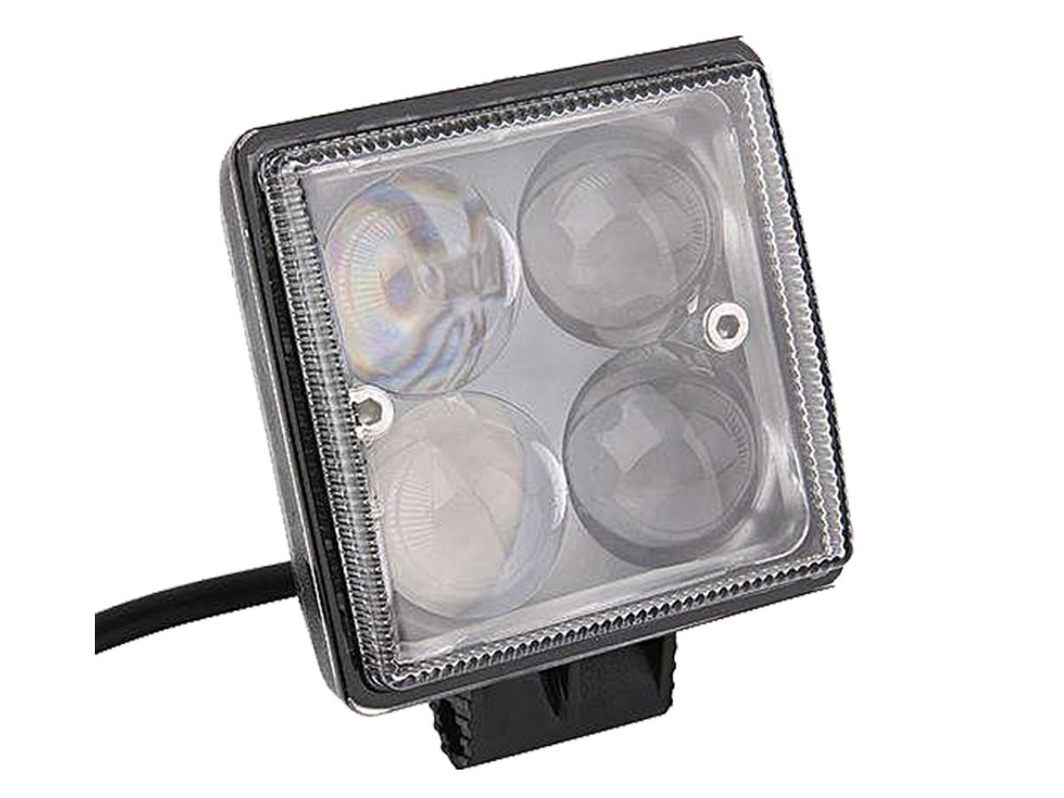 FAROL LED MILHA AUXILIAR QUADRADO   4 LEDS 12/24V