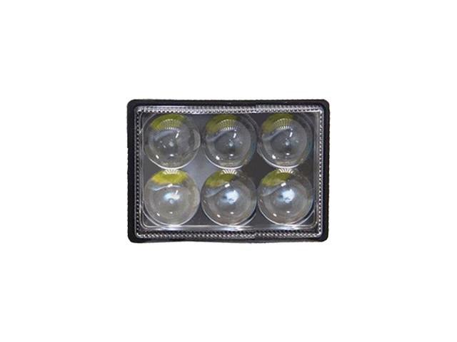 FAROL LED MILHA AUXILIAR RETANGULAR 6 LEDS 12/24V
