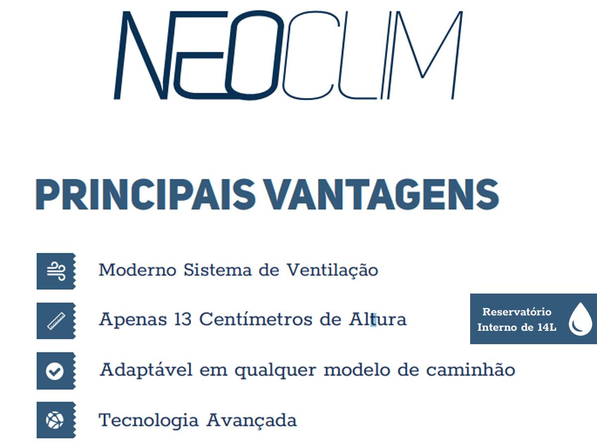 INTERCLIMA CLIMATIZADOR MULTIUSO ADAPTAÇÃO VAN/ONIBUS/TRAILE