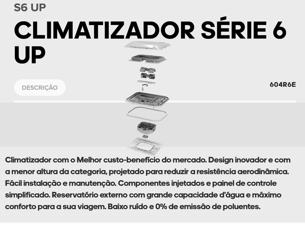 INTERCLIMA CLIMATIZADOR PAR CAMINHÃO IVECO TECTOR TETO BAIXO