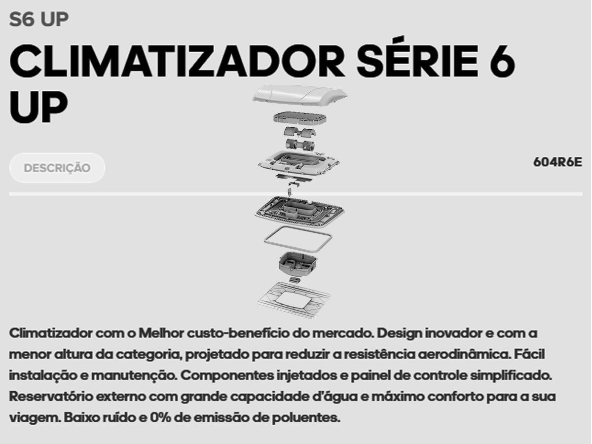 INTERCLIMA CLIMATIZADOR PARA CAMINHÃO SCANIA SERIE 7 24V