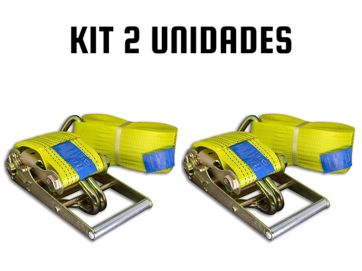 KIT 2 CINTA CATRACA CARGA/CAMINHÃO/MUDANÇA 10 TONELADAS 9MT