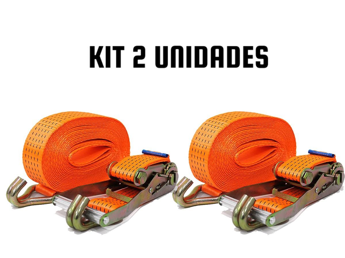 KIT 2 CINTA CATRACA CARGA/CAMINHÃO/MUDANÇA 5 TONELADAS X9 M