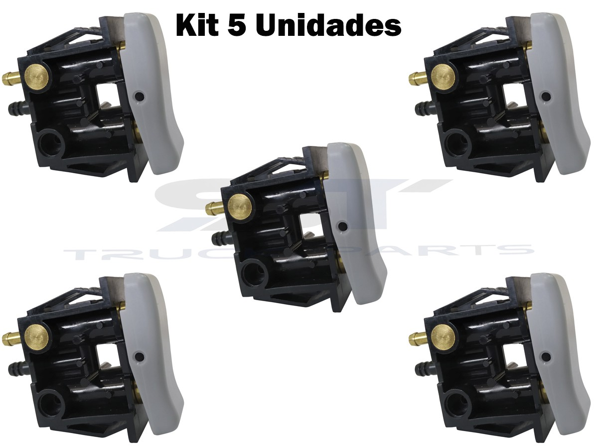 Kit 5 Botão Banco Ar Vw Ford Cargo Mbaxor 2r2-881-251-a