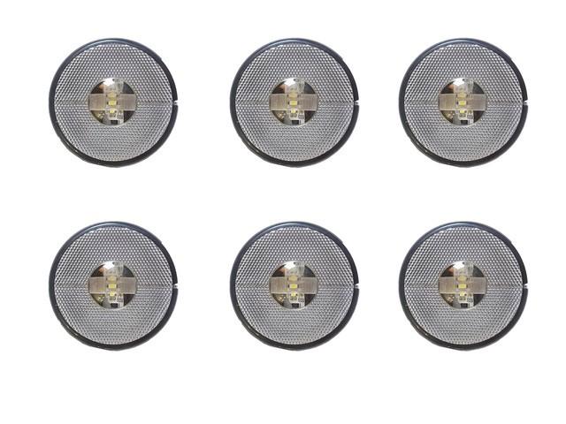 KIT 6 LANTERNA LATERAL LED 24V.CARRETA RANDON CRISTAL