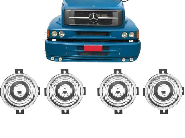KIT FAROL AUXILIAR VW 19.320 CONST. COM SUPORTE (4 UNIDADE)