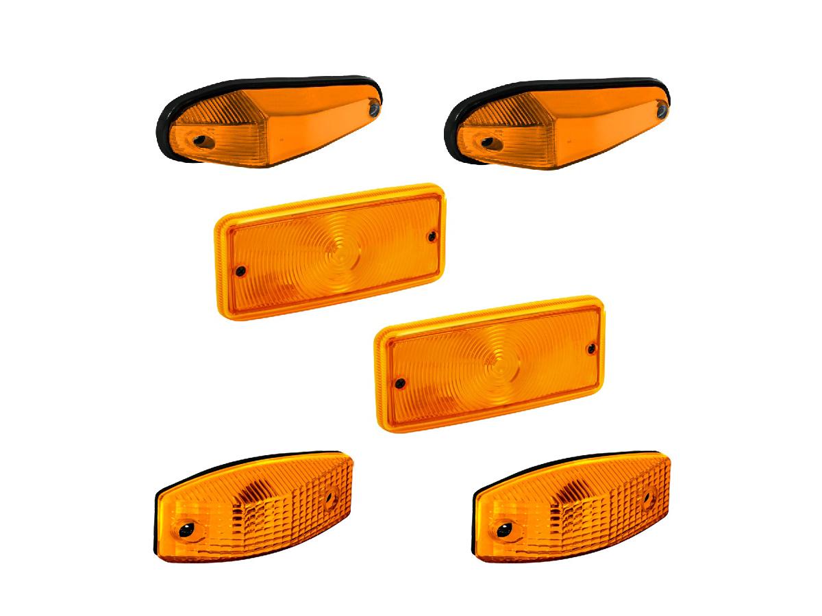 Kit Lanterna Pisca Seta Vw Caminhão Amarelo
