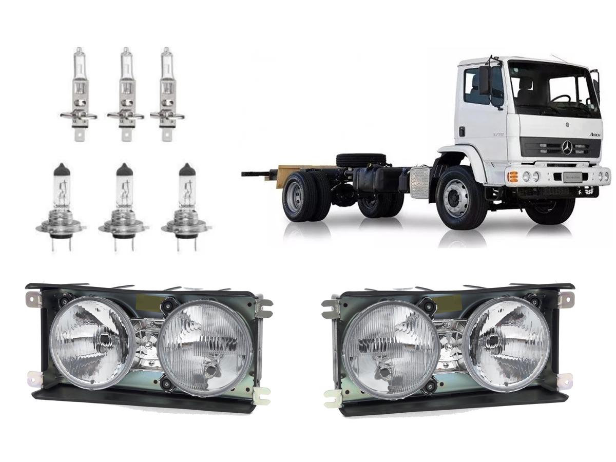 KIT PAR FAROL ATRON 3 LAMPADA H1 3 LAMPADA H7 24V
