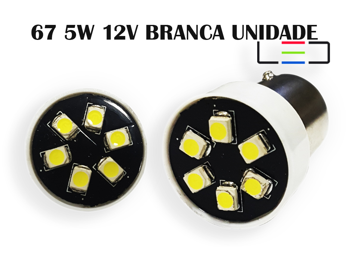 LAMPADA LED 67 5W 12V BRANCO FRIO UNITARIO