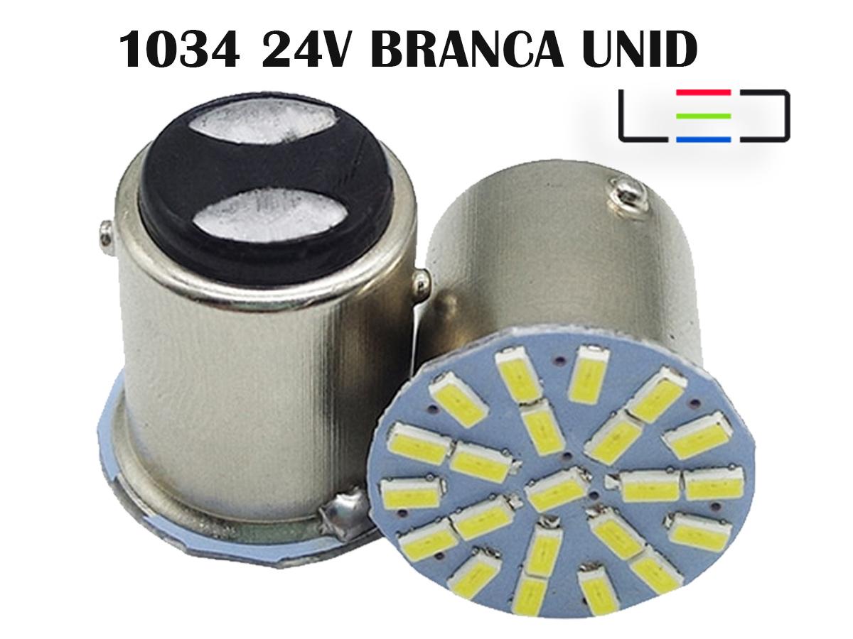 LAMPADA LED BRANCO FRIO 2 PÓLOS SMD LANTERNA UNID. 24V