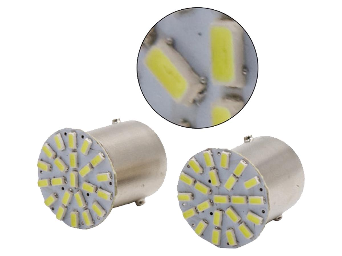 LÂMPADA LED SUPER LED PARA CARRO VEÍCULOS 24V 1141 BRANCO 6U