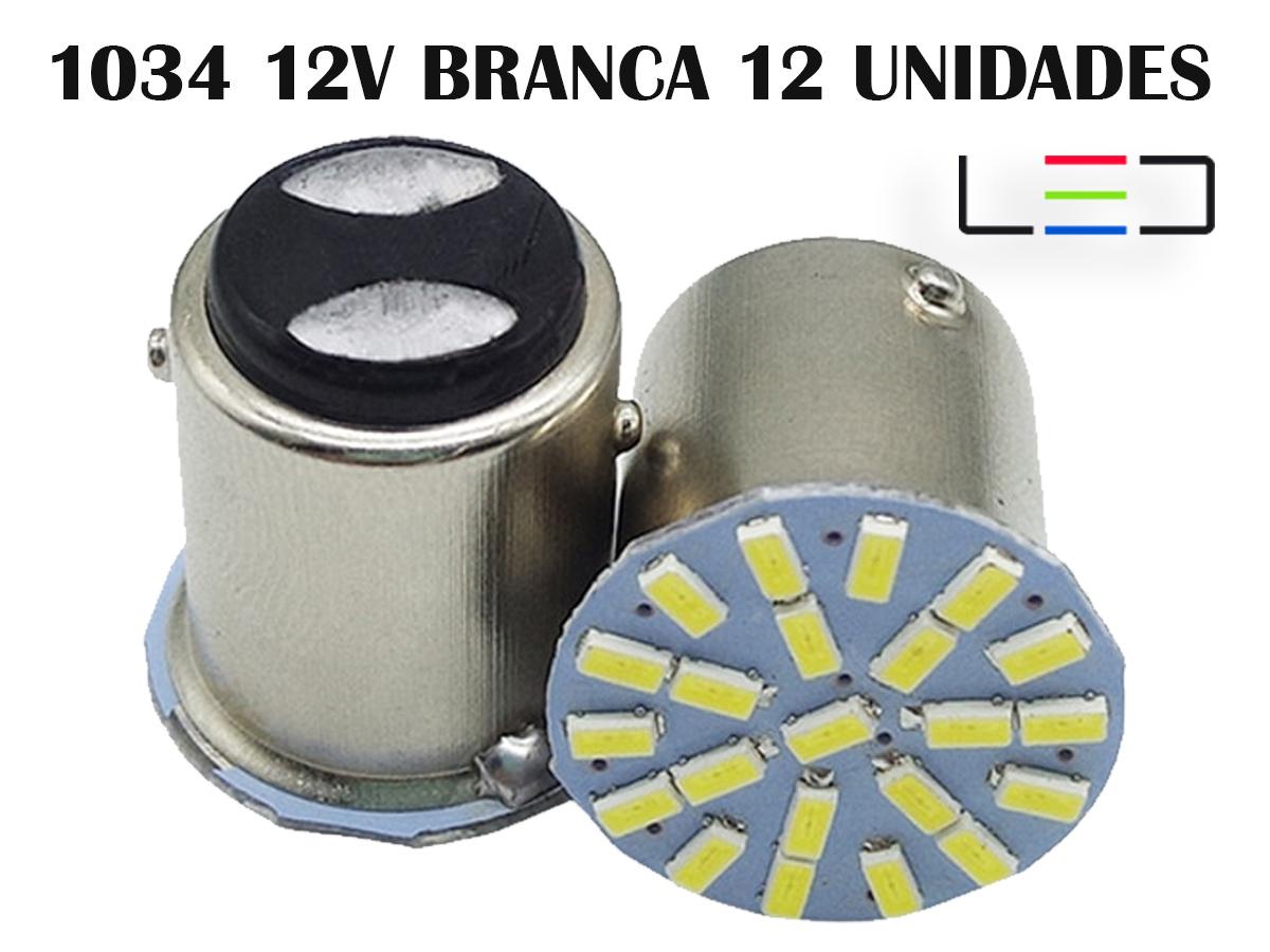 LÂMPADA LED SUPER LED PARA CARRO VEÍVCULOS 12V 1034 BRANCO