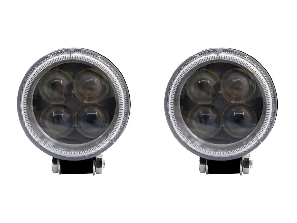 PAR FAROL LED MILHA AUXILIAR REDONDO 3,3' 12W 12/24V