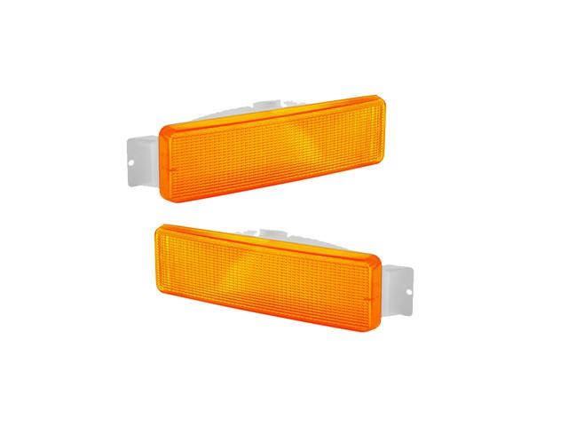 PAR Lanterna De Seta Pisca Dianteira Ford Cargo Amarelo