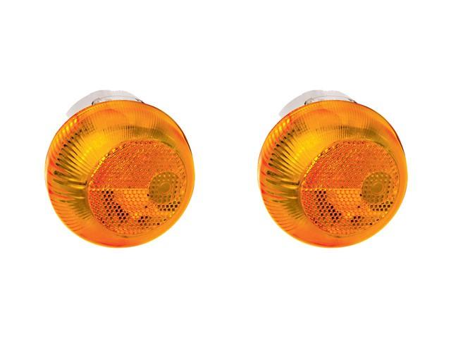PAR Lanterna Lateral Seta Caminhão Vw Constellation amarelo