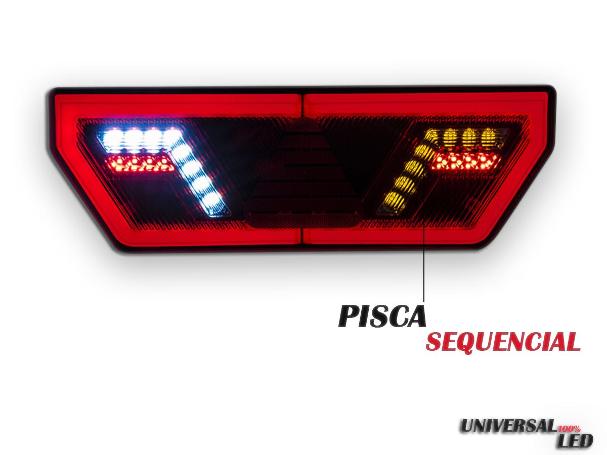 PAR LANTERNA TRASEIRA 121V GUERRA LED PISCA SEQUENCIAL