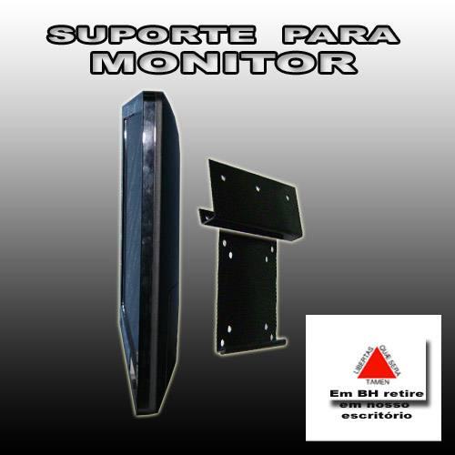 Suporte de Parede SUPER SLIM 10X10cm  para Monitor e TV LCD
