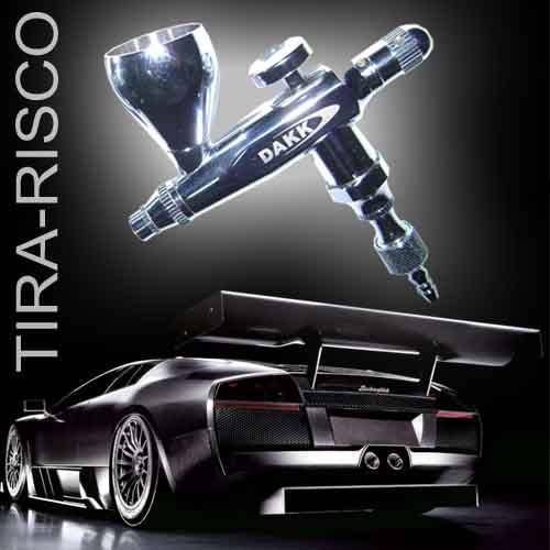 UNIDADE COM ESTOJO TRINCADO - Aerógrafo TIRA-RISCO para  Micro-Pintura automotiva
