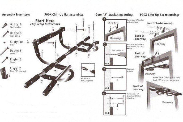 Barra de porta  iron gym extreme  - Loja Silver Box