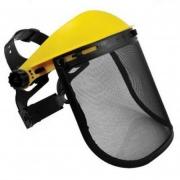 Protetor facial com tela para roçadeira