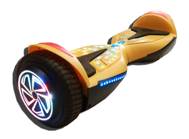 HOVERBOARD - AMARELO - rodas com led bluetooth e estojo plástico