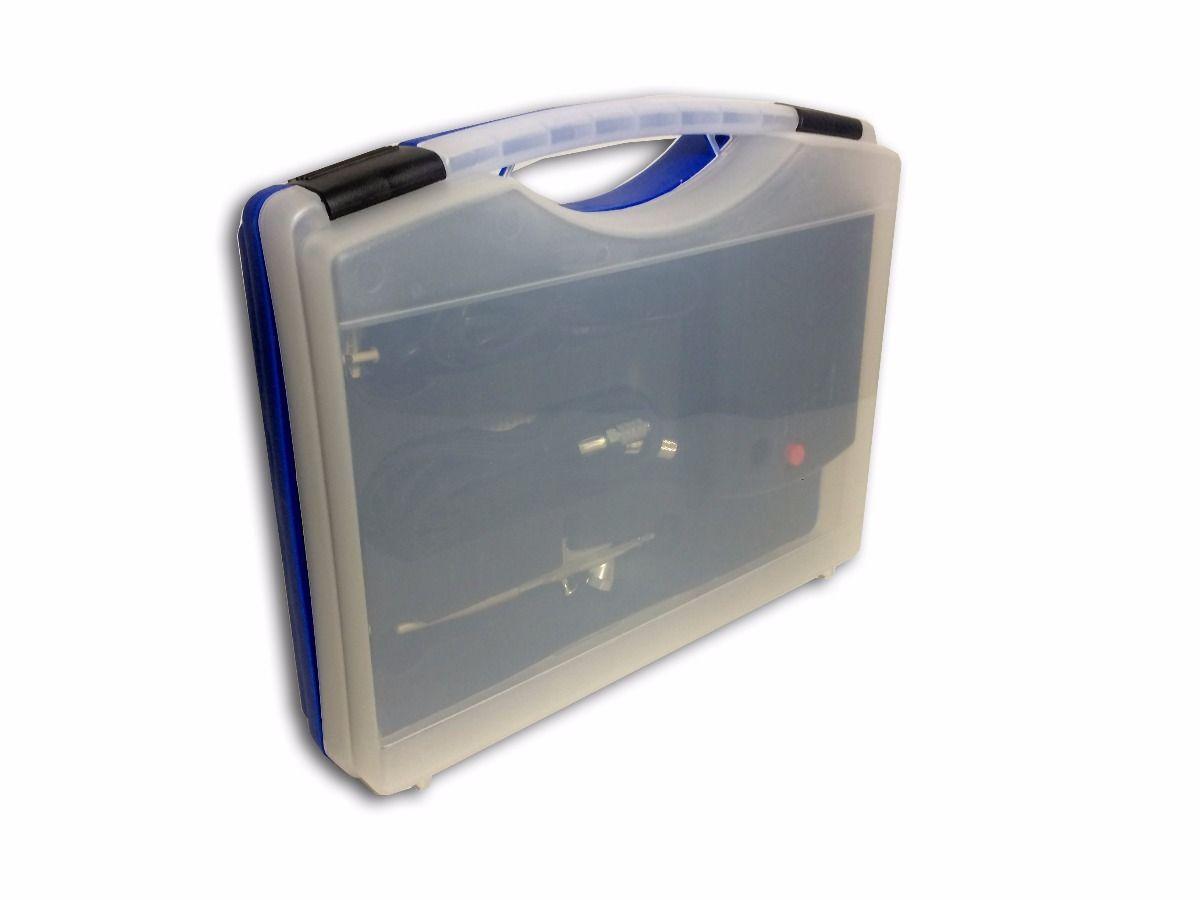 Maleta Kit De Aerógrafo E Compressor Dakk Original  - Loja Silver Box